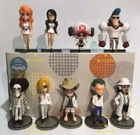 9pcs/lot Anime One Piece Figure Toy Monkey D Luffy Sanji Zoro Nami Robin Chopper