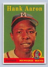 "1958  HANK AARON - Topps ""REPRINT"" Baseball Card # 30 - MILWAUKEE BREWERS"