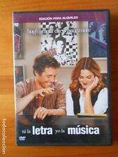 DVD TU LA LETRA YO LA MUSICA - EDICION DE ALQUILER HUGH GRANT DREW BARRYMORE (Y3