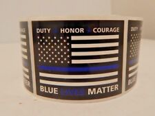 BLUE LIVES MATTER Flag USA Sticker Free Shipping 99 Cents Thin Blue Line