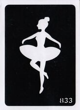 GT833 Body Art Temporary Glitter Tattoo Stencil  Ballet Dancer