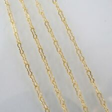 16 Inch 14k Gold Filled 5.4x1.6mm Krinkle Chain Necklace Assembled by Hand