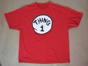 Thing 1 One Dr. Suess Red Short Sleeve T-Shirt Universal Islands Adventure XXL