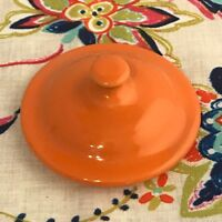 Fiestaware Tangerine Jam Jar Lid Fiesta Retired Grease Jar Replacement LID ONLY
