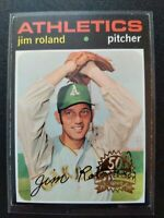 JIM ROLAND 2020 TOPPS HERITAGE 1971 50TH ANNIVERSARY STAMPED BUY BACK #642