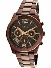 Fossil Women's Perfect Boyfriend ES4110 Brown Stainless-Steel Plated Dress Watch