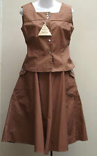 Vintage 1950s summer skirt & top UNUSED Epatra miracle sailcloth WELGRUME UK 8