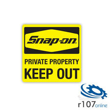 """Genuine Snap On Tool Box Decal, Keep Out, 5"""""""