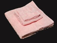 Christy Renaissance Egyptian Cotton. Towels. 1 Bath. 1 Hand. 1 Face. Pastel Pink