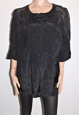 MODA Designer Black Short Sleeve Blouse Top Size 20 BNWT #SS18