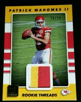 SP /25 PATRICK MAHOMES II RC JSY SWEET 3 COLOR PATCH 2017 Donruss Rookie Threads