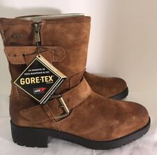 BNIB Clarks Ladies Reunite Go GTX Brown Suede Gore Tex Ankle Boots size 7 M
