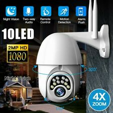 1080P 10 LED Outdoor CCTV IR Camera PTZ WiFi HD IP Security Night Vision