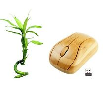 Sale! Bamboo Mouse Handmade Wireless wooden USB natural PC optical Mice Computer