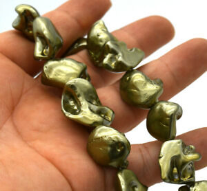 New 14x18x10mm Green Irregular South Sea Shell Pearl Necklace 18 inches