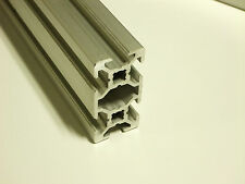 """TNUTZ - EXM-2040 - Smooth 20mm x 40mm T-Slotted Aluminum Extrusion - 24"""" long."""