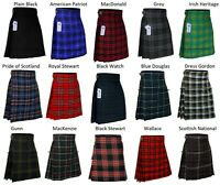 Men's Scottish Kilts Tartan Kilt 13 oz Highland Casual Kilt 17 Tartans
