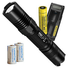 Nitecore P10GT 900 Lumen LED Flashlight w/ UM10 Charger & High Capacity Battery