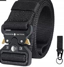 Fairwin Tactical Belt for Men, Military Style Nylon Web Belt with Heavy-Duty ...