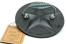 Old Mountain Cast Iron STAR Grill Press Cool Handle #10197 Western Kitchen Decor