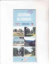 VINTAGE MAP ----GEORGIA/ALABAMA---STANDARD OIL--1970