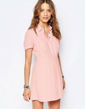NWT Free People Dream Chaser Button Front Dress In Peach Sz 12