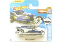 Hotwheels Great Gatspeed Blue HW Showroom Short Card 1 64 Scale Sealed