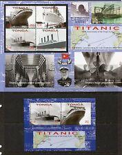 Tonga 2012 Sinking of the Titanic Sheets - Scott 1178-79 1179 - SCV $20