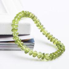Natural Green Peridot Crystal Clear Abacus Beads Healing Bracelet 7mm AAAAA