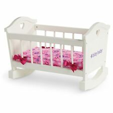 "American Girl BITTY BABY  ROCKING CRADLE for 15"" Dolls Crib Bed Toy Wooden NEW"