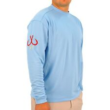 Montauk Tackle Co. LS Men Performance Crew Neck Shirt-Pick Color/Size- Free Ship