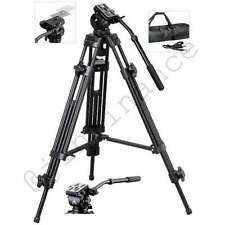 "Pro Heavy Duty EI-717 62"" Tripod with Fluid Pan Head plate & case for Video"