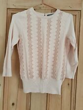 Oasis Pink Lace Jumper Size Xs. Never Worn