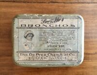 Vintage Lan-Tox Bronchos throat lozenges medicine tin, De Pree Chemical Co.