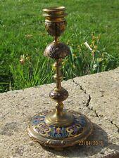 Bougeoir XIX°En Bronze Cloisonné Emaillé,signé Ferdinand Barbedienne ,
