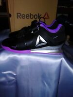 Reebok Women Legacy Lifter Training Shoe Black Silver Purple DV6231 SZ 12 US NIB