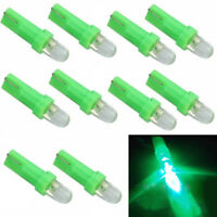 10Pcs Green T5 12V LED Car Auto Wedge Dashboard DASH Gauge Light Lamp Bulb New