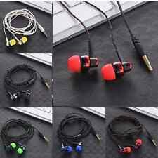 Universal 3.5mm Braided Rope Wire Bass Earphone Fiber Cloth Headset Headphone US