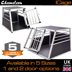 Aluminium Pet Car Crate Travel Cage Dog Puppy Cat Transport Kennel 6 sizes
