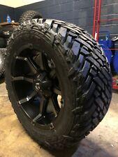 "20x10 Fuel D556 Black Coupler 35"" Mt Wheel & Tire Package 8x6.5 Dodge Ram 2500"