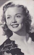 MARTHA  STEWART -  hollywood  MOVIE  STAR/actress 1950s  arcade/exhibIit card
