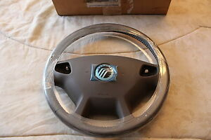 NOS 2000 2001 2002 MERCURY SABLE LEATHER WRAPPED STEERING WHEEL MED PARCHMENT