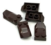 Lego 5 New Dark Brown Brick Modified 2 x 3 x 2/3 Two Studs Wing End Pieces