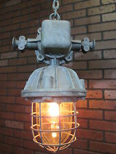 Vintage Industrial Explosion Proof Ceiling Light Made in Poland Rewired for Home