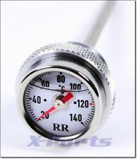 RR Öltemperatur Anzeige Ölthermometer Direktanzeiger Buell XB 9S XS 12S WEISS