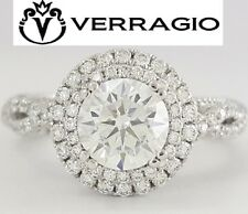 Verragio Venetian 5048R 18K White Gold Double Halo Semi-Mount Engagement Ring