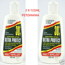 Ultra Protect Insect Repellent Sunscreen Lotion 2x 125ml Oz Made