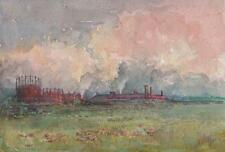 MARCUS ADAMS Watercolour Painting READING GAS WORKS c1920 IMPRESSIONIST
