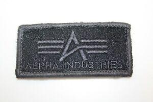 Alpha Industries Patch für Jacken Pullover CWU 45 MA-1 neu schwarz grau selten