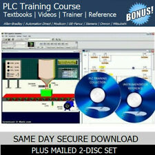 PLC Training Course with SIMULATION Trainer Software & OEM Manuals